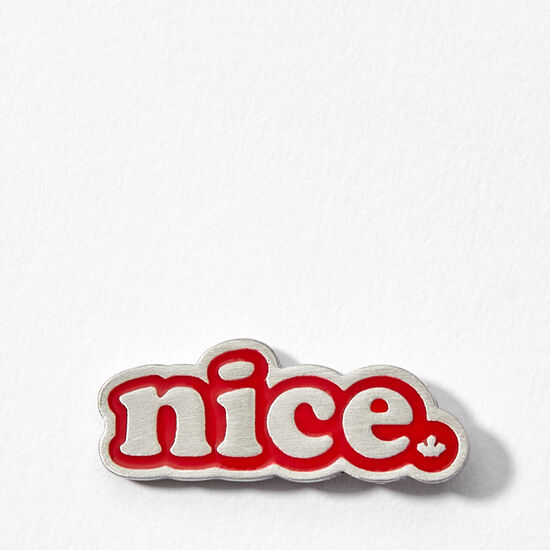 Roots-Women Nice™-Nice Enamel Pin-Sage Red-A