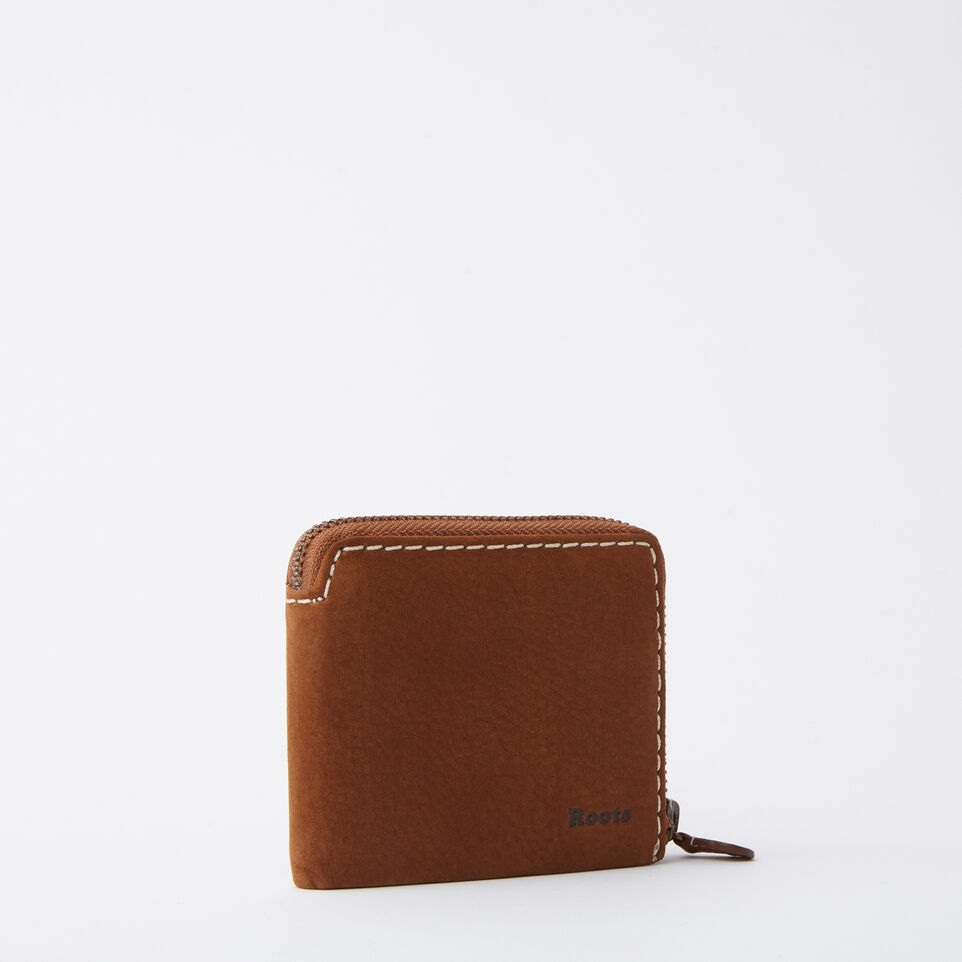 Roots-undefined-Mens Half Zip Wallet Waterbuck-undefined-D