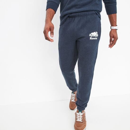 Roots-Men Bottoms-Slim Sweatpant-Navy Blazer Mix-A