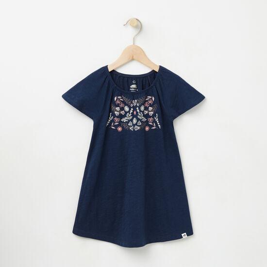 Roots-Kids Tops-Toddler Victoria Dress-Cascade Blue-A