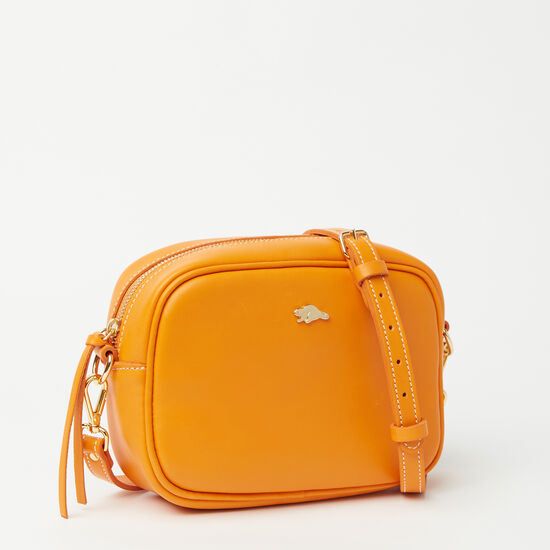 Roots-Leather Shoulder Bags-Lorna Bag Bridle-Orange-A