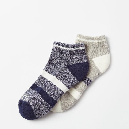 Roots-Women Socks-Christy Sport Ped Sock 2 Pack-Cascade Blue-A