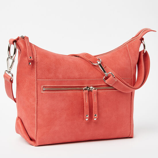Roots-Women Shoulder Bags-Sophia Bag Tribe-Coral-A
