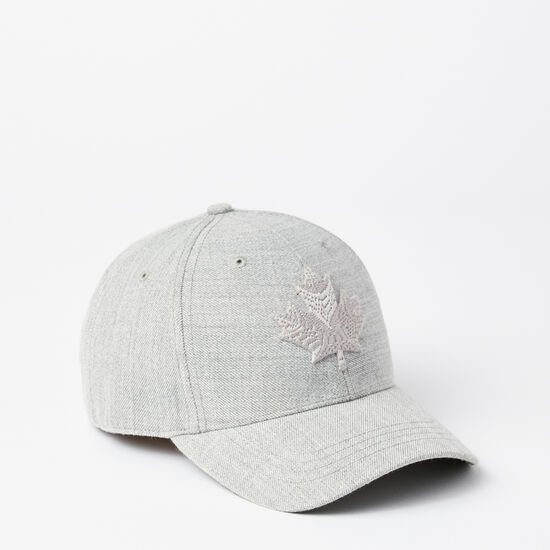 Roots-Men Hats-Modern Leaf Baseball Cap-Grey Mix-A