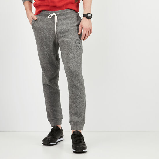 Roots-Men Slim Sweatpants-True North Sweatpant-Steel Grey Pepper-A