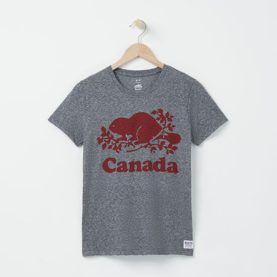 Roots-Women Canada Collection By Roots™-Womens Cooper Canada  T-shirt-Salt & Pepper-A