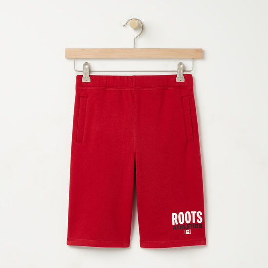 Roots-Kids Roots Re-issue-Boys Roots Re-issue Athletic Short-Scooter Red-A