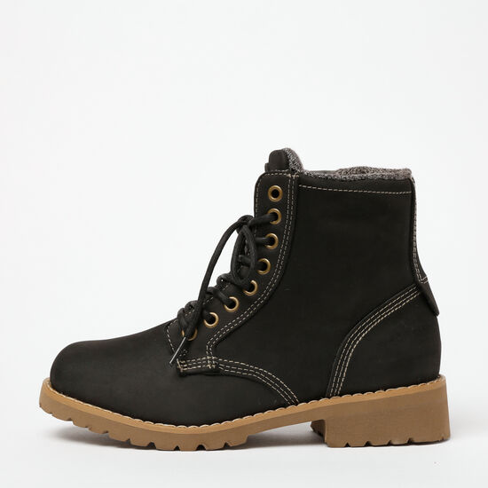 Roots-Shoes Women's-Ossington Boot Nubuck-Black-A