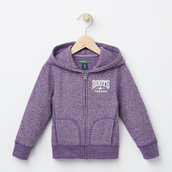 Roots-Kids Toddler Girls-Toddler Ella Maple Hoody-Valley Purple Mix-A