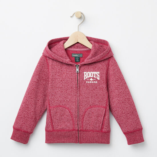 Roots-Kids Toddler Girls-Toddler Ella Maple Hoody-Beaujolais Mix-A