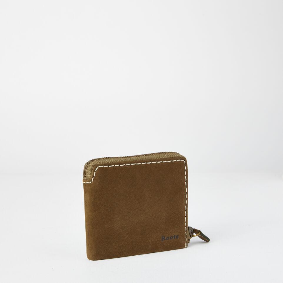 Roots-undefined-Mens Half Zip Wallet Waterbuck-undefined-D