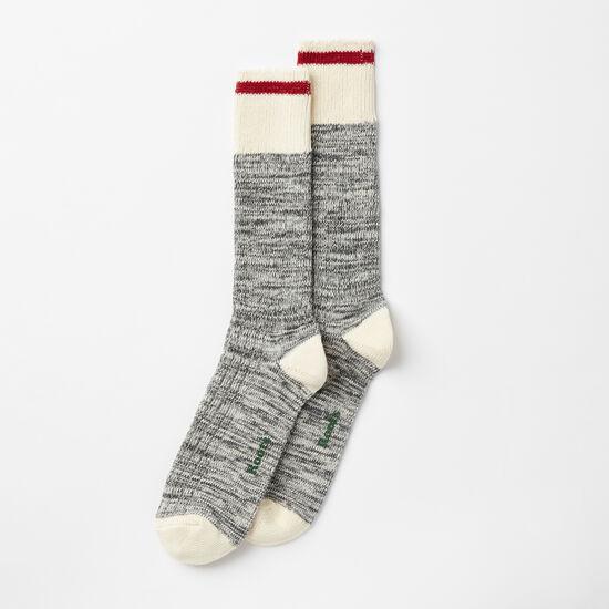 Roots-Men Socks-Mens Park Sock 2 Pack-Salt & Pepper-A