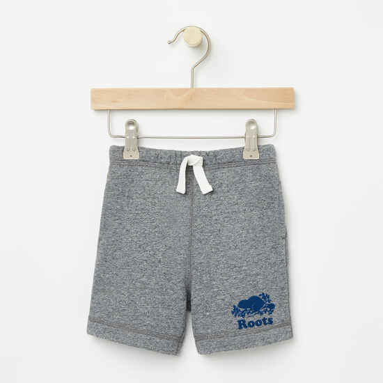 Roots-Kids Bottoms-Baby Original Athletic Shorts-Granite Mix-A