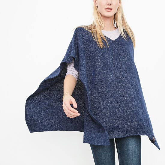 Roots-Women Bestsellers-Shelli Poncho-Starnight Blue-A