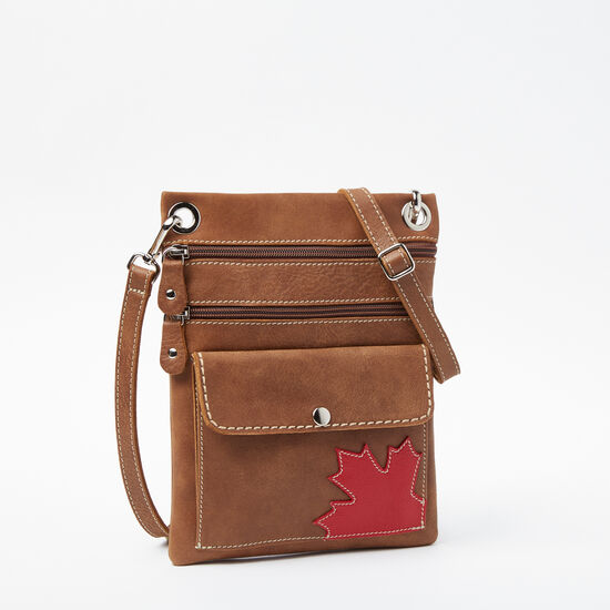 Roots-Leather Features-Trans Canada Urban Pouch Tribe-Africa-A