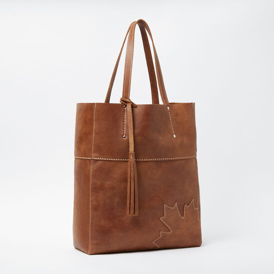 Roots-Leather Totes-Trans Canada French Tote Tribe-Africa-A