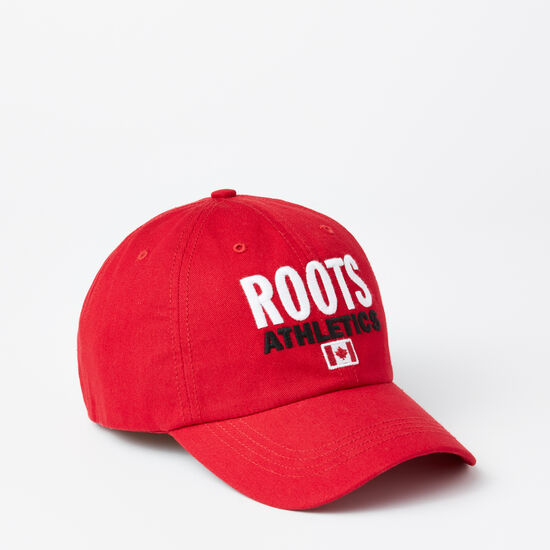 Roots-Men Hats-Franklin Roots Baseball Cap-Scooter Red-A