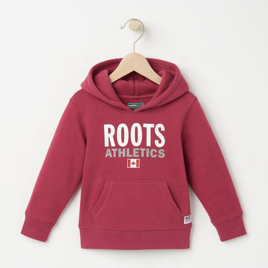 Roots-Kids Toddler Girls-Toddler Roots Re-issue Kanga Hoody-Beaujolais-A