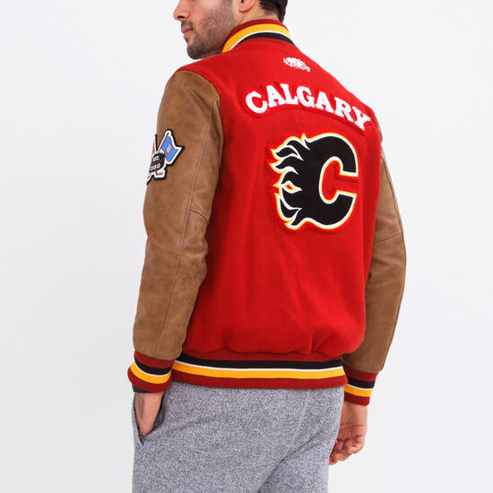 Roots-Men Award Jackets-NHL Award Jacket Calgary-Red-A