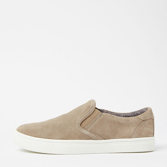 Roots-Shoes Women's Shoes-Womens Slip On Sneaker Suede-Earth-A