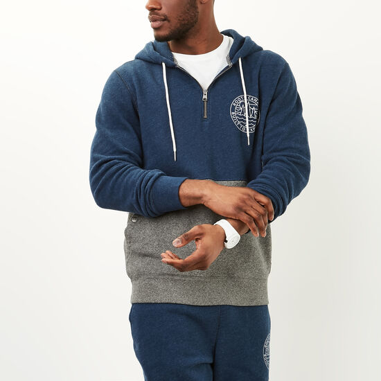 Roots-Men Sweatshirts & Hoodies-True North Hoody-Indigo Mix-A