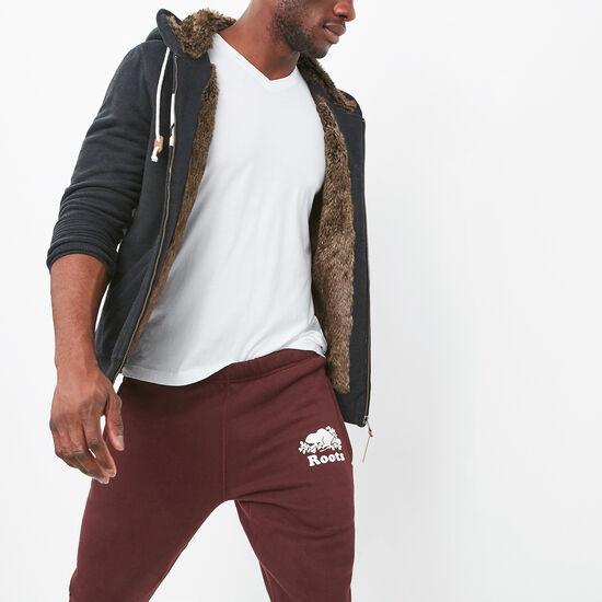 Roots-Men Online Exclusive-Heritage Fur Beaver Hoody-Black Mix-A