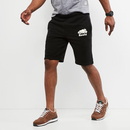 Roots-Men Shorts-Original Sweatshort-Black-A