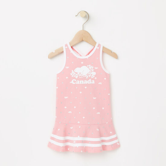 Roots-Kids Baby-Baby Cooper Canada Tank Dress-Peony Pink-A