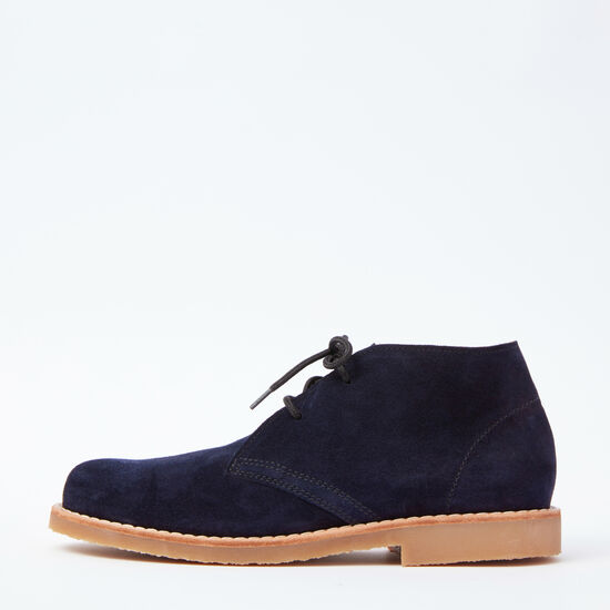 Roots-Shoes Men's Shoes-Mens Chukka Boot Suede-Navy-A