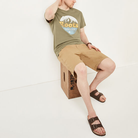 Roots-Men Bottoms-Campbell Hemp Shorts-Kelp Beige-A