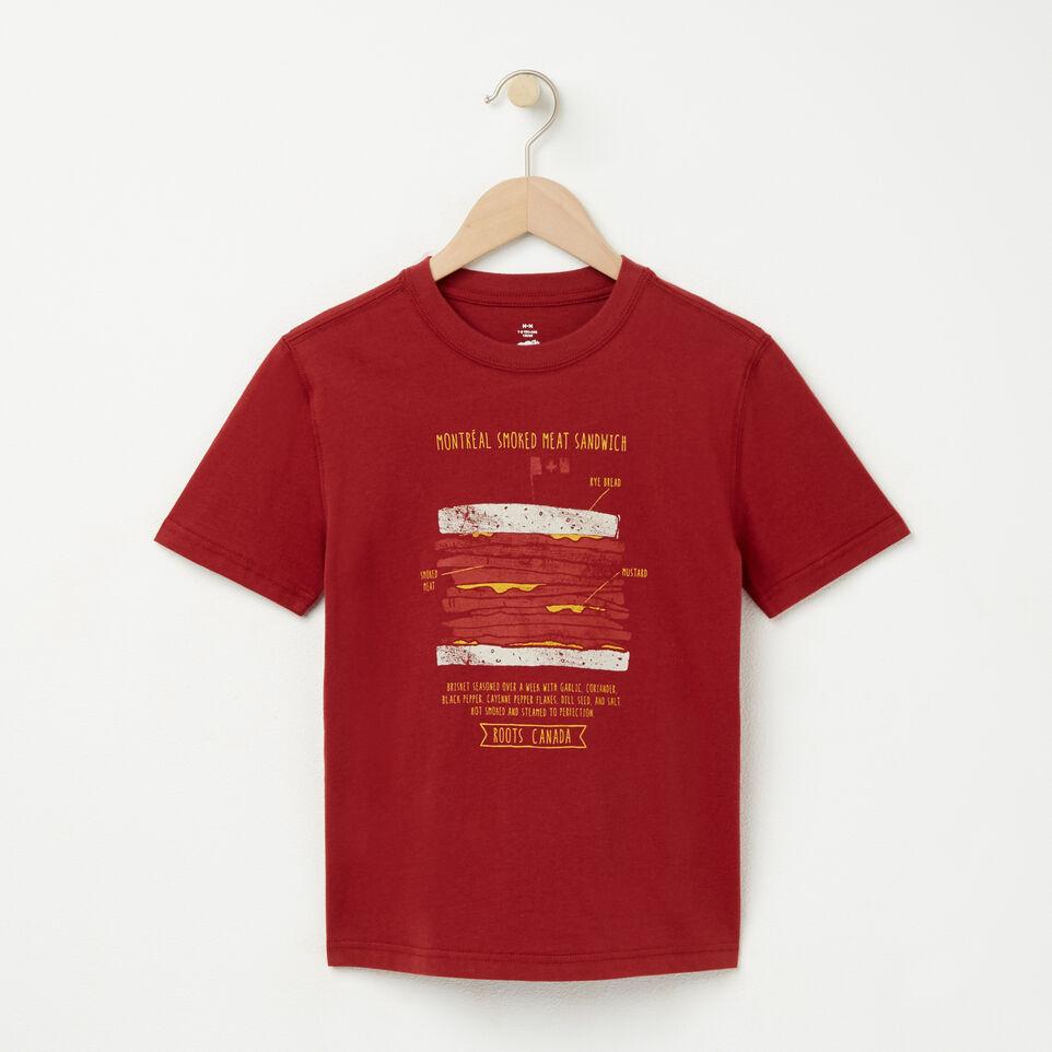 Roots-undefined-Garçons T-shirt Viande Fumée-undefined-A