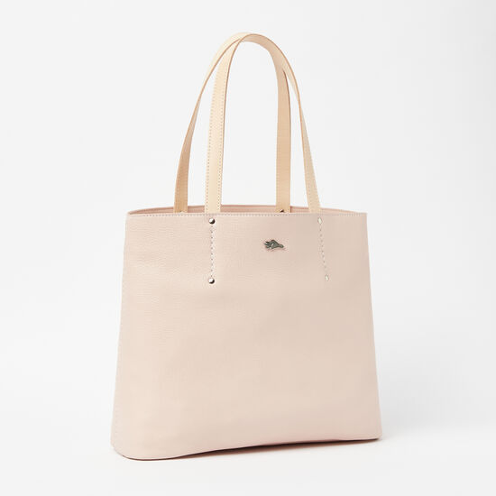 Roots-Women Totes-Downtown Tote Prince/Veg-Desert Rose-A