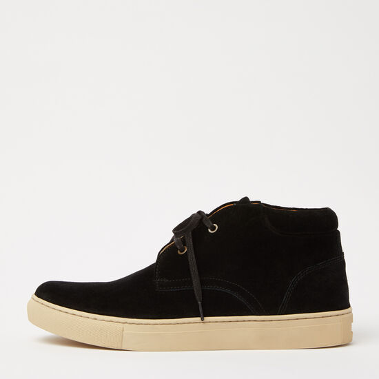 Roots-Shoes Shoes-Raymond Sneaker Suede-Black-A