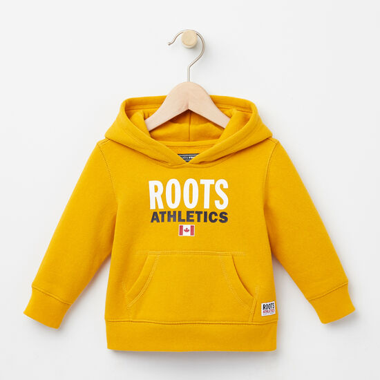 Roots-Kids Tops-Baby Roots Re-issue Kanga Hoody-Ancient Gold-A