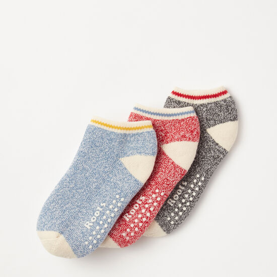 Roots-Kids Accessories-Toddler Cabin Ped Sock 3 Pack-Scooter Red-A