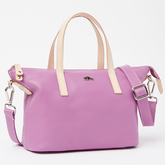 Roots-Leather Colour Of The Month: Orchid Prince-Small Zoe Bag Prince-Orchid-A