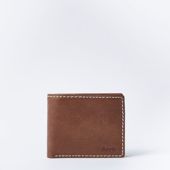 Roots-Leather Men's Wallets-Mens Slimfold With Coin Tribe-Africa-A