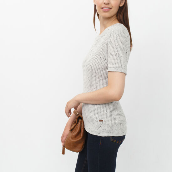 Roots - Snowy Fox Speckle Sweater