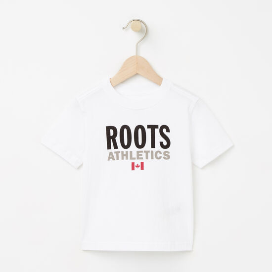 Roots-Kids T-shirts-Toddler Roots Re-issue T-shirt-White-A