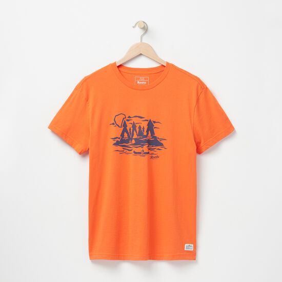 Roots-Men Graphic T-shirts-Explore Organic T-shirt-Orangeade-A