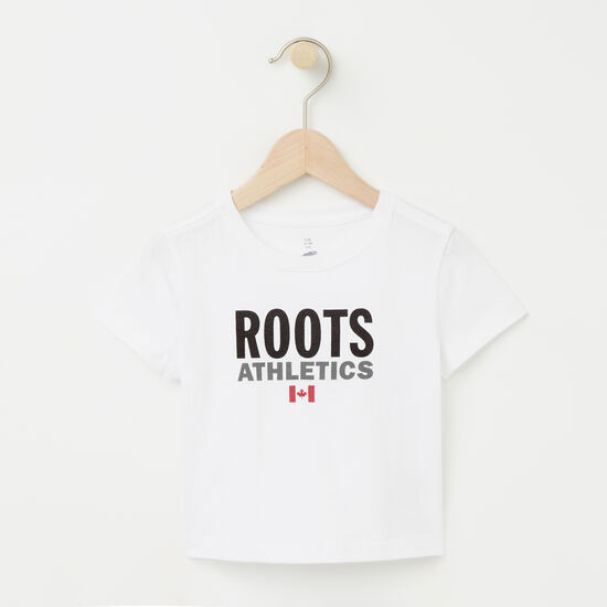 Roots-Enfants Bébés Garçons-Bébés Roots Re-issue T-shirt-Blanc-A