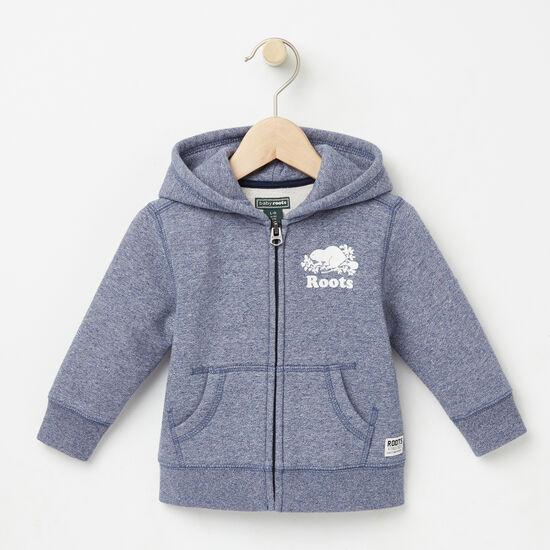Roots-Kids Tops-Baby Original Full Zip Hoody-Cascade Blue Pepper-A