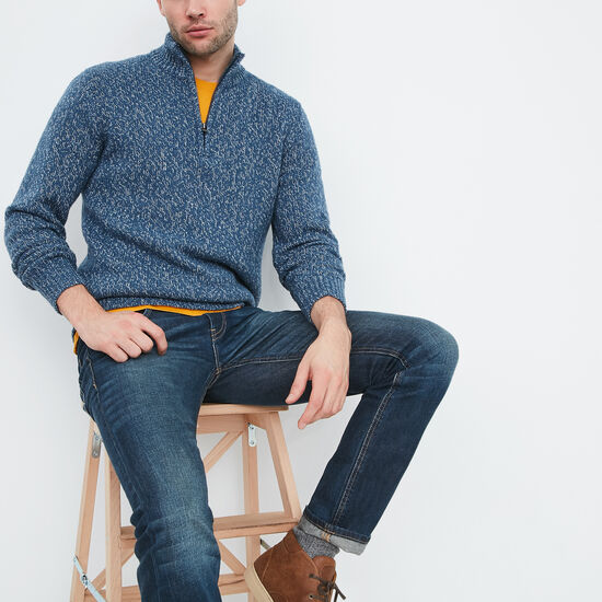 Roots-Men Sweaters & Cardigans-Mason Sweater-Blue Mix-A