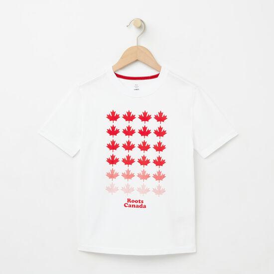 Roots-Enfants Nouveautés-Garçons T-shirt Érable Multi-Blanc-A