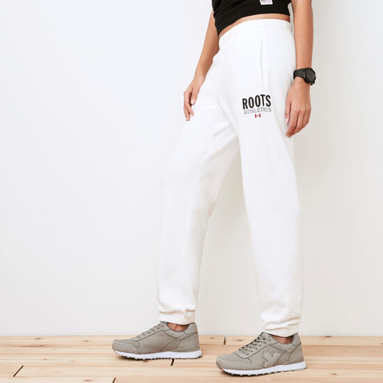 Roots-Women Original Sweatpants-Roots Re-issue Sweatpant-White-A