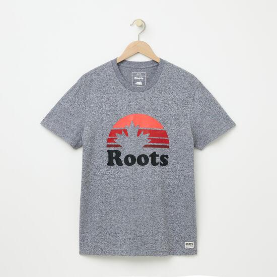 Roots-Men Graphic T-shirts-Sunvalley T-shirt-Salt & Pepper-A