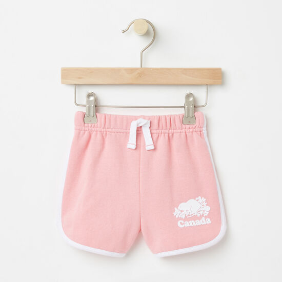 Roots-Kids Bottoms-Baby Cooper Canada Shorts-Peony Pink-A