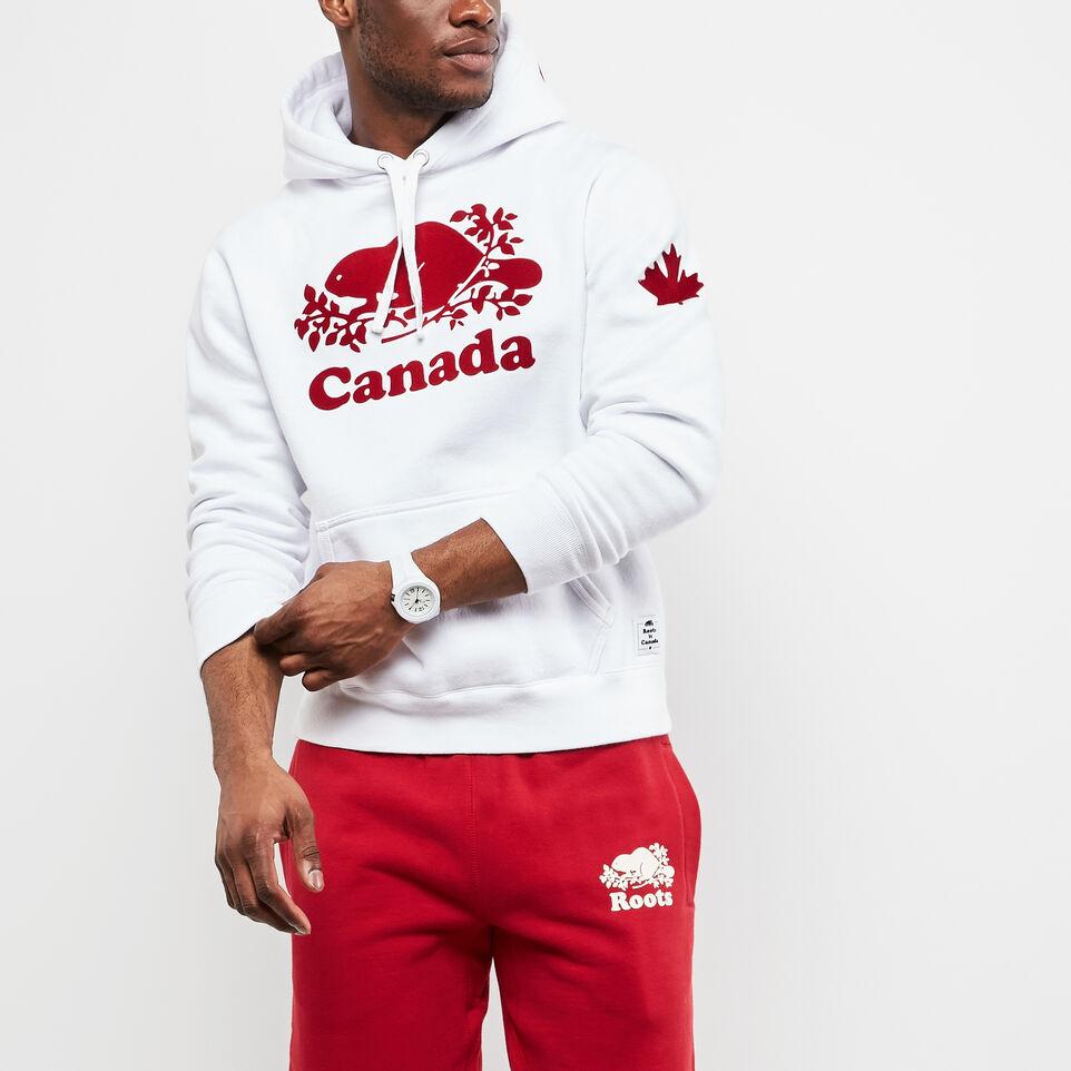 fleece canada logo hoodie roots