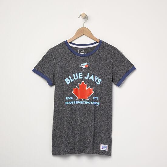 Roots-Hommes Toronto Blue Jays™-T-shirt à col contrastant Blue Jays MC Ballpark pour femmes-Sel Et Poivre-A