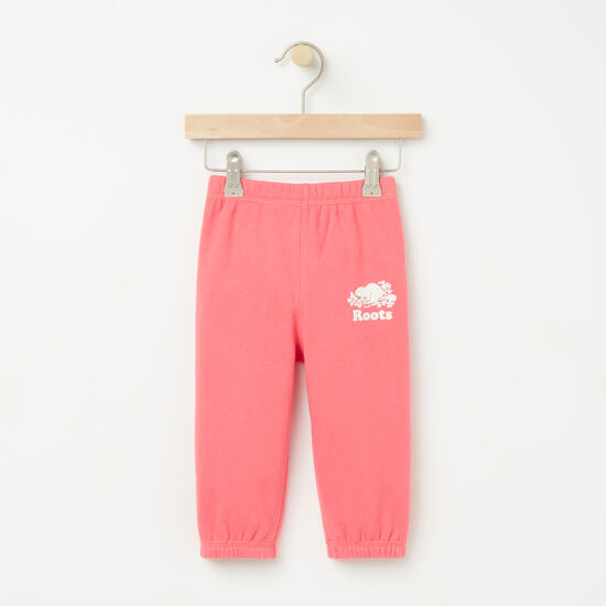 Roots-Kids Bottoms-Baby Original Sweatpant RTS-Rapture Rose-A